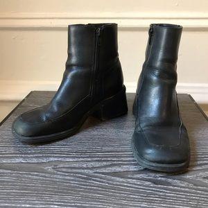Vintage Genuine Leather Chunky Booties